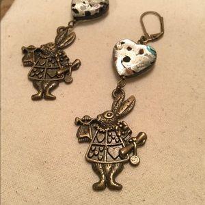 Vintage Alice in Wonderland Earrings